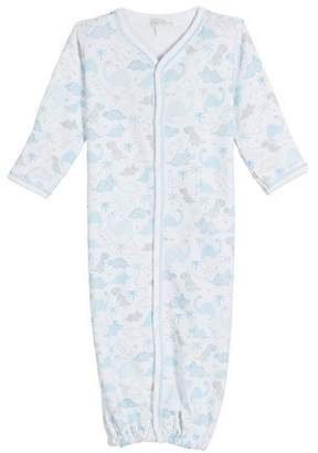 Kissy Kissy Roarsome Printed Convertible Gown, Size Newborn-S
