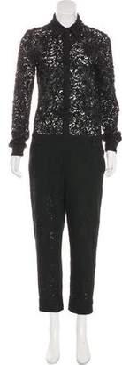 No.21 No. 21 Lace Long Sleeve Jumpsuit