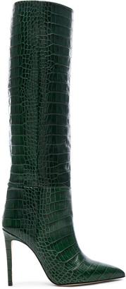 Paris Texas Croco Tall Boot in Green | FWRD