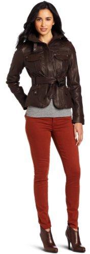 Tommy Hilfiger Women's Belted Leather Field Jacket
