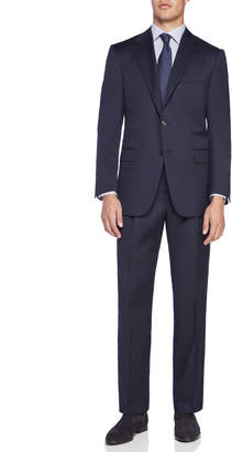 Hickey Freeman Two-Piece Solid Navy Suit