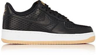 Nike Women's Air Force 1 '07 Premium Sneakers-BLACK $120 thestylecure.com