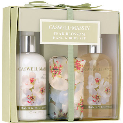 Caswell-Massey Pear Blossom 3 Piece Hand and Body Gift Set 1 set