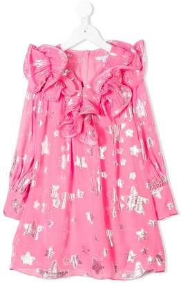 Little Marc Jacobs stars print ruffled dress