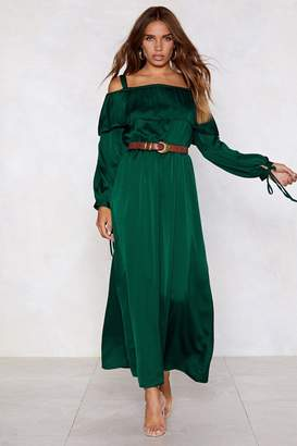 Nasty Gal Satin the Cocktail Bar Maxi Dress