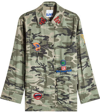Sjyp Military Patch Camouflage Cotton Jacket