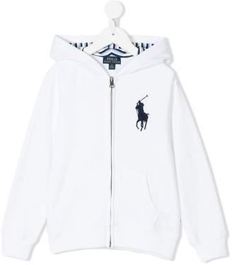 Ralph Lauren logo embroidered zip jacket