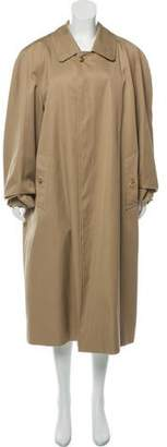 Burberry Wool Long Trench Coat