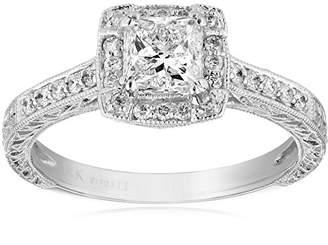 Kobelli 1 1/5 cttw Round and Princess-Cut Diamond Engagement Ring