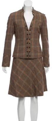 Tibi Plaid Wool Suit Set