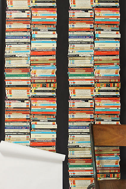 Anthropologie Stacked Paperback Wallpaper
