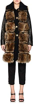 Maison Mayle Women's Faux-Fur & Faux-Leather Vest