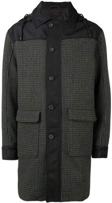 Joseph hooded houndstooth coat