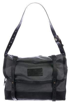 DSQUARED2 Leather-Trimmed Canvas Messenger Bag