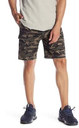 Public Opinion Camo Print Jogger Shorts