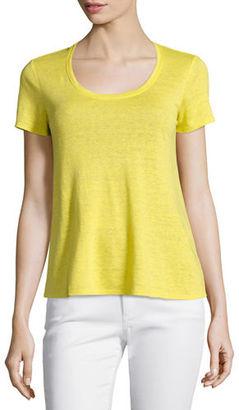 Eileen Fisher Short-Sleeve Organic Linen Lucky Tee $128 thestylecure.com
