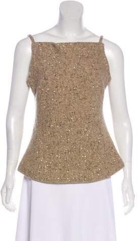 Donna Karan Wool-Blend Sleeveless Top w/ Tags