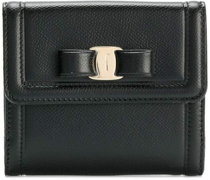 Salvatore Ferragamo vera bow compact wallet