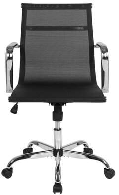 Mid-Century MODERN Symple Stuff Velazco Mid-Back Transparent Black Mesh Swivel Office Chair With Spring-Tilt Control And Arms Symple Stuff