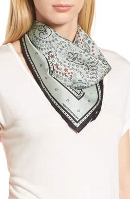 Rebecca Minkoff Paisley Symbols Silk Bandana