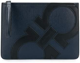 Salvatore Ferragamo Gancini zipped logo pouch
