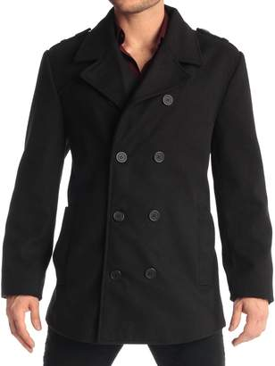 Alpine Swiss Mens Double Breasted Wool Pea Coat Dress Jacket Overcoat Peacoat