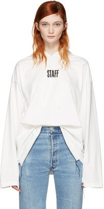 Vetements White Hanes Edition 'Staff ' Hoodie $620 thestylecure.com