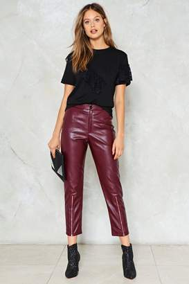 Nasty Gal Just Ride Vegan Leather Pants