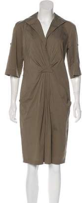 Lafayette 148 Three-Quarter Sleeve Midi Dress