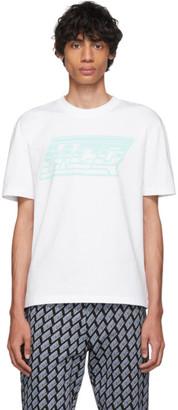 McQ White Logo Dropped Shoulder T-Shirt