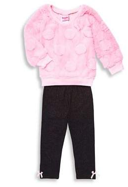Nannette Little Girl's Two Piece Faux Fur Top & Legging Set