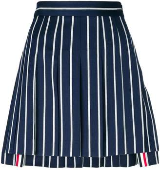 Thom Browne striped pleated mini skirt