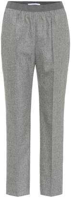 Agnona Stretch wool and cashmere-blend pants