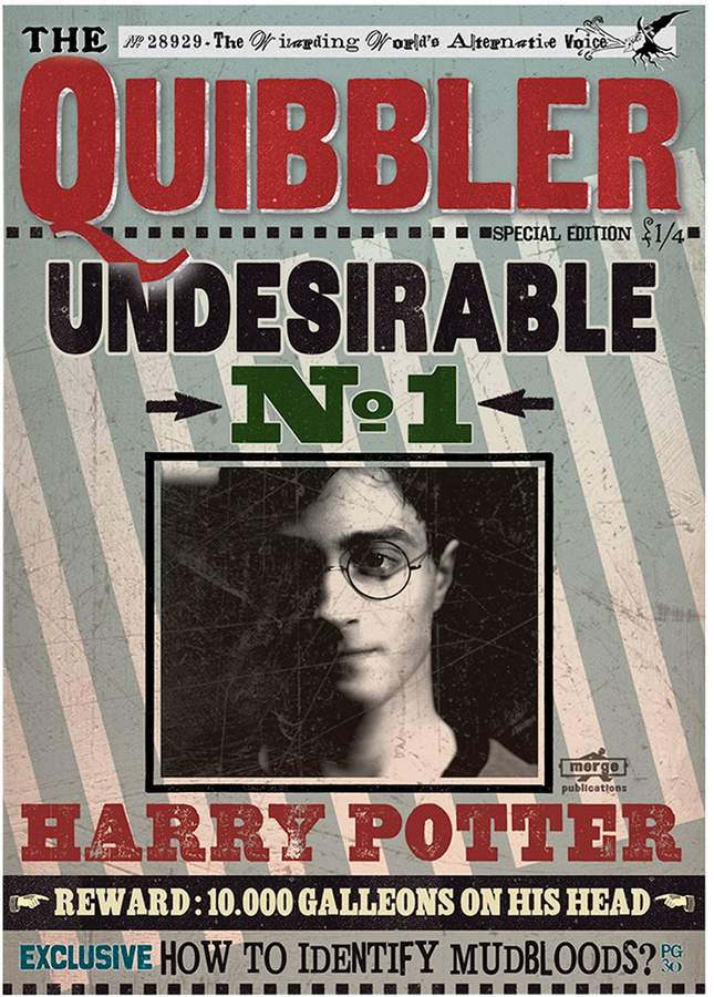 Harry Potter The Quibbler Undesirable No.1 Print