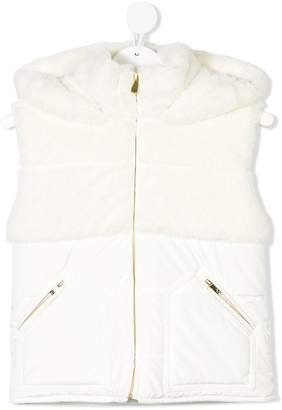 Lapin House faux fur hooded vest