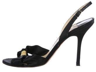 Jimmy Choo Satin Ankle Strap Sandals