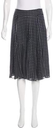 Max Mara Silk Floral Skirt