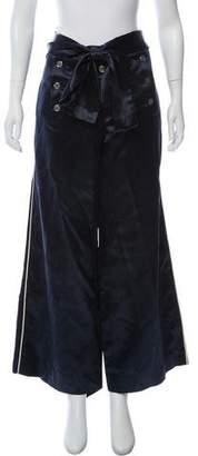 Louis Vuitton Satin Wide-Leg Pants