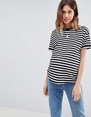 Asos stripe t-shirt with roll sleeve
