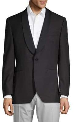 Canali Jacquard Shawl Collar Suit Jacket