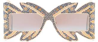 Gucci Limited Edition mask sunglasses with crystals