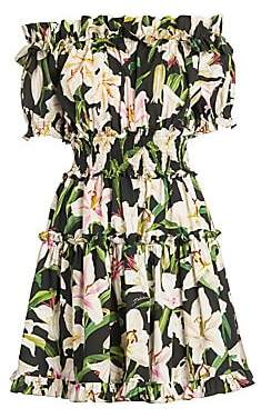 Dolce & Gabbana Women's Off-The-Shoulder Ruffle Mini Dress