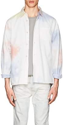 John Elliott Men's Tie-Dyed Cotton Shirt