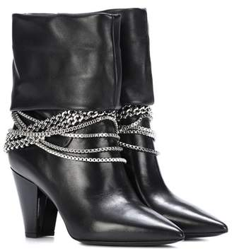 Self-Portrait Sadie leather ankle boots