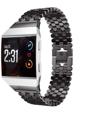 Fitbit GreatTry Hot Sale For Ionic Watchband,Solid Stainless Steel Accessory Watch Band Strap Metal Bands for Smart Watch (Black)