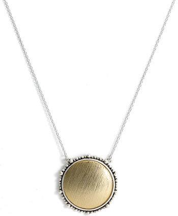 Nordstrom Round Textured Statement Pendant Necklace