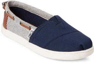 Toms Kids Girls) Navy Bimini Canvas Slip-On Shoes