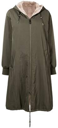 Yves Salomon Army fur lined parka coat