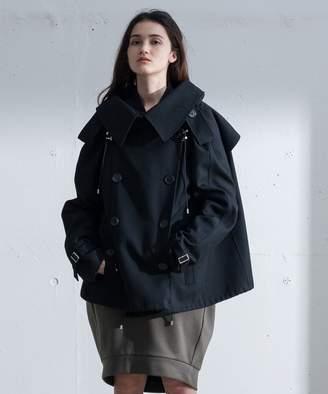 Calvin Klein (カルバン クライン) - Calvin Klein women 【2017AW新作コート】ストラクチュアルウール ピーコート(C)FDB