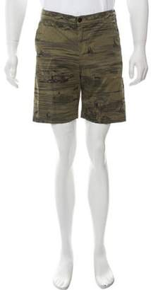 Barena Venezia Printed Flat Front Shorts w/ Tags olive Venezia Printed Flat Front Shorts w/ Tags